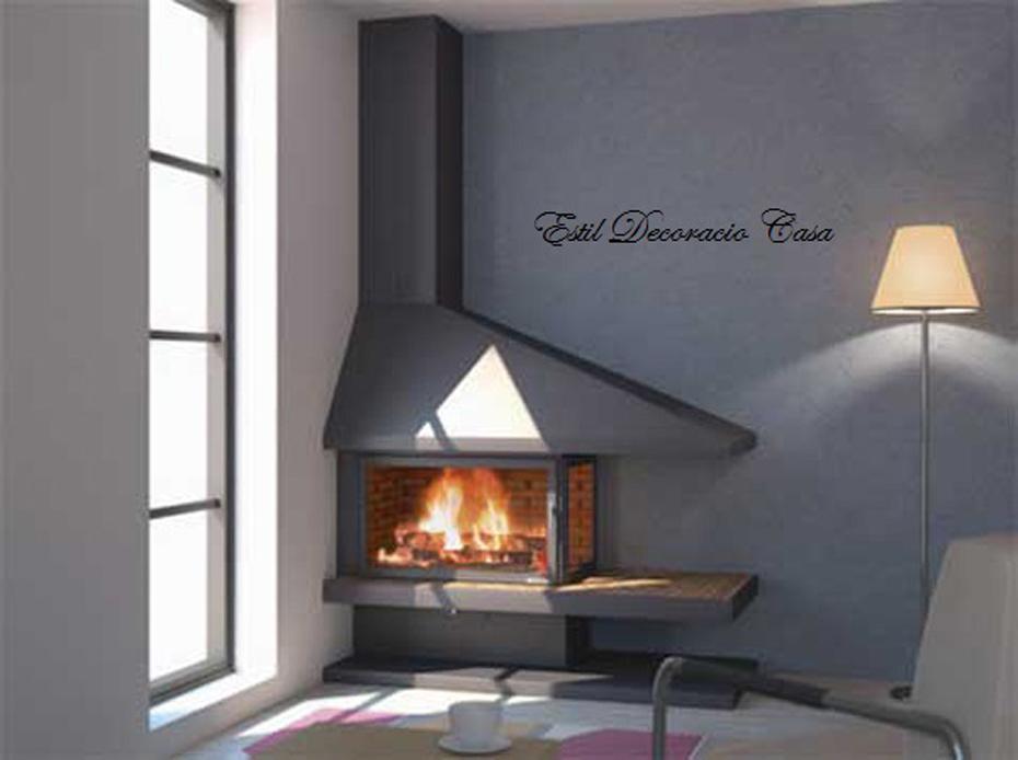 chemin e 92 m tal bois pour angle avec un large foyer foyer ferm. Black Bedroom Furniture Sets. Home Design Ideas