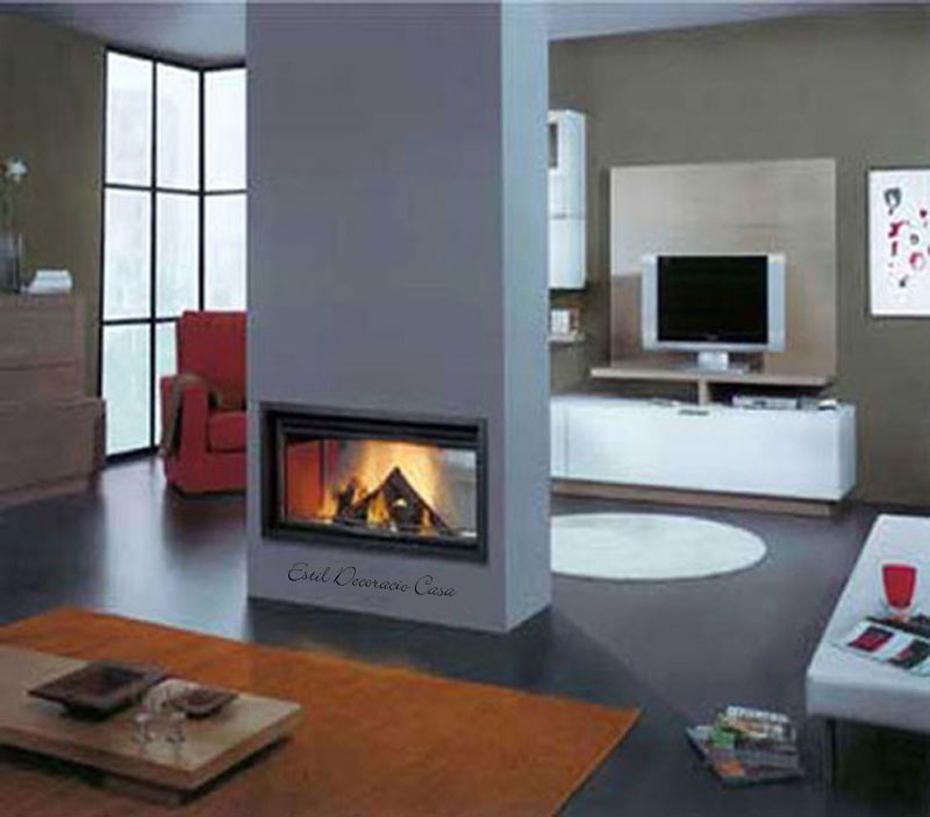 grand insert 02 double faces avec vision du feu sur 2 c t s insert 02 bas prix. Black Bedroom Furniture Sets. Home Design Ideas